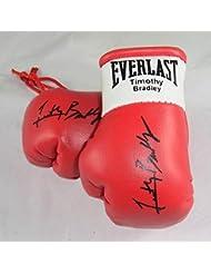 Manny Pacquiao V Timothy Bradley Gants de boxe Autographed Mini (une paire)