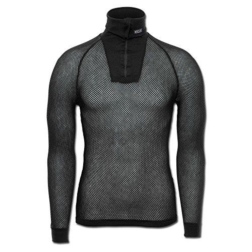 Brynje Zip-Poloshirt schwarz Größe - Brynje Unterwäsche