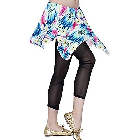 Donne Danzawea Danza del ventre Gonne Flower&Leopard Prattem Irregular Gonne Mermaid Vestito Danza Costumes Mini Gonne