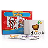 Spelling Toys, SAYEEC Match & Spelling Board Games w/ 10 Three-Piece Word Puzzles and 10 four-Piece Word Puzzles