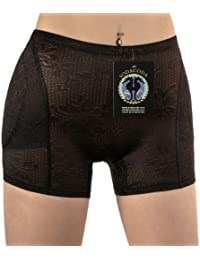 Foam Padded Hip and Butt Bum Enhancer - Nude or Black - SODACODA Boyshort with removeable pads - Lowrise to Midrise Style (XS-XXL = UK 6-18)
