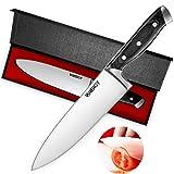 VANERGY Couteau de Chef Couteau de Cuisine Multifonction Professionnel Acier INOX Couteau de Cuisine 20cm avec poignée ErgonomiquLa Poignée Anti Dérapante Viande, légumes, Fruits