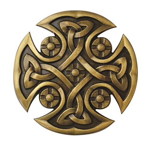 Buckle Gürtelschnalle Celtic Cross Keltisches Kreuz im Messingstil ()