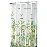 InterDesign Anzu Fabric Shower Curtain, Extra-Long Shower Screen with Garden Pattern Design, Polyester - Best Reviews Guide