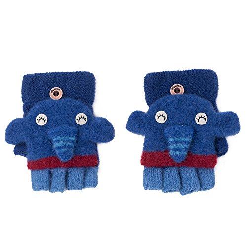 Fäustlinge Kinder Handschuhe In Winter Cartoon Baby Infant Finger Handschuhe Niedlich Geeignet Für 1-3-jährige Baby, Beste Geschenke ( Farbe : Dunkelblau ) (Cartoon Handschuhe, Die Hände)