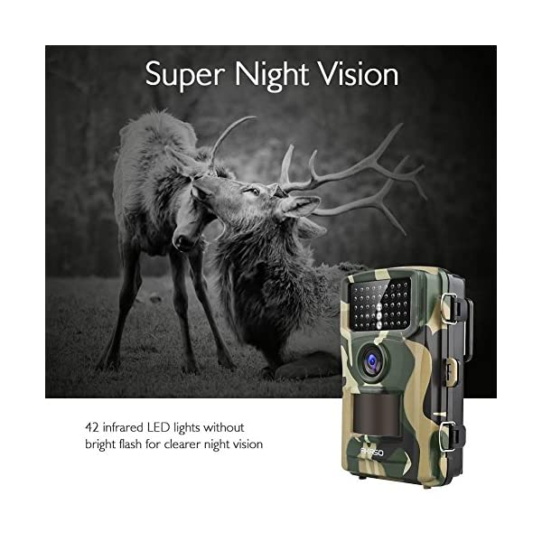AKASO 14MP Trail Camera Night Vision 1080P Hunting Camera IP66 Waterproof Game Camera 120 Degree Wide Angle with 2.4 Inch LCD Loop Recording Surveillance Camera