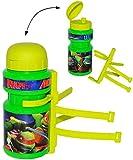 Fahrradtrinkflasche -' Teenage Mutant Ninja Turtles' - 360 ml - mit Halterung / Halter für Kinder Fahrradflasche - Fahrrad Trinkflasche - universal auch für Roller und Dreirad Laufrad - Jungen - Flaschenhalter - Kunststoffflasche Kinderfahrrad - Hero - Turtle / Schildkröten - Wasserflasche - Sportflasche / Fahrradflaschenhalter