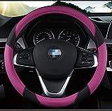 La progettazione piacevole del coperchio del volante dell'automobile a 15 pollici del cuoio di Microfiber ha stampato i fiori per la ragazza porpora delle donne