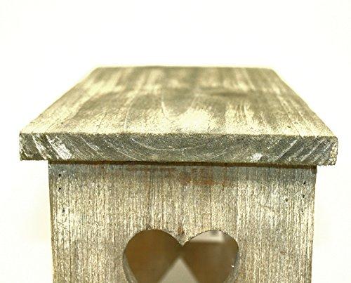 Sconosciuto piccolo rustico in legno di pino sgabello fiori u2013 vaso