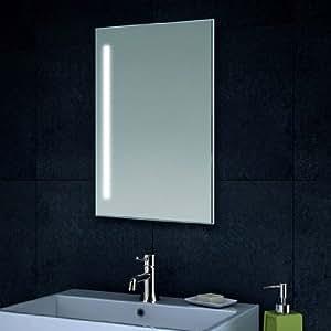lux aqua design wand spiegel badezimmerspiegel led beleuchtung mit 420 lumen mt60 40. Black Bedroom Furniture Sets. Home Design Ideas