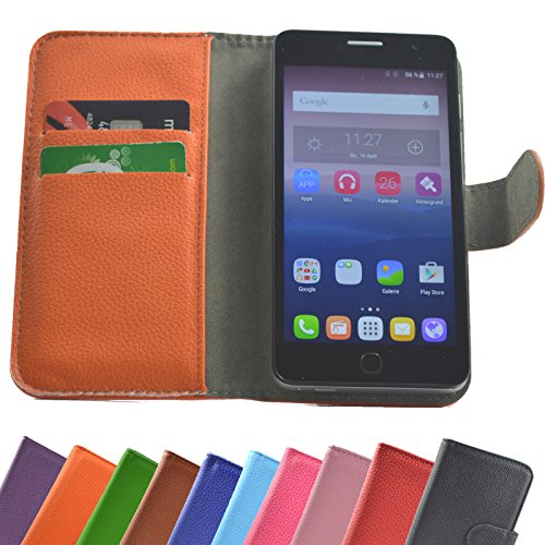 Fairphone 2 Smartphone/Slide Kleber Hülle Case Cover Schutz Handy Tasche Cover Etui Handyhülle Schutzhülle in Orange