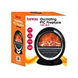 Benross PTC Ceramic Oscillating Fireplace Flame Effect Heater