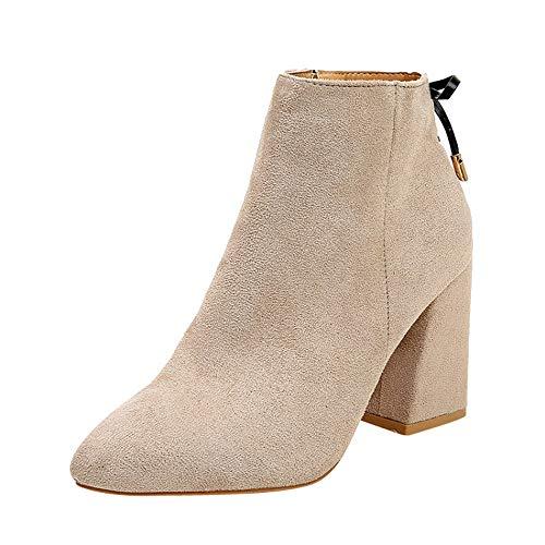 Yesmile Damen Schuhe Frauen Herde Stiefeletten Mode Plateau Stiefel Kurz Warm Martin Stiefel Schuhe High Heel Ankle Boots Mädchen Freizeit Schuhe