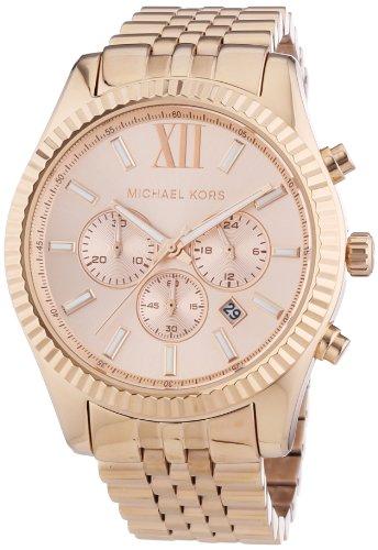 Michael Kors - MK8319 - Montre Mixte - Quartz Chronographe - Chronomètre - Bracelet Acier Inoxydable Plaqué Or Rose