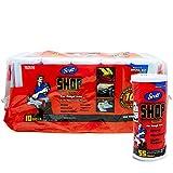 Scott Shop - Pack de 10 de 55 Hojas por Rollo, tamaño de Hoja de 27,94 x 26,41 cm, Absorbe líquidos, aceites y Grasa