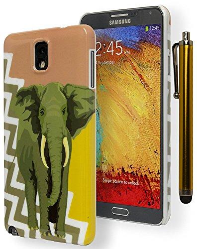 BASTEX Schutzhülle für Samsung Galaxy Note 3, mit Eingabestift, antikes Korallenrot/goldfarben