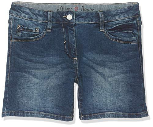 s.Oliver Junior Mädchen 76.899.72.3326 Shorts, Blau (Blue Denim Stretch 56Z3), 146 (Herstellergröße: 146/REG)