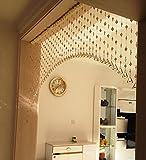 LIQICAI Türvorhang Wulstvorhang Kristall Perle Stränge Kronleuchter Für Weihnachten Hochzeit Party Club Schaufenster (Farbe : Champagner, Größe : Wide 200cm)
