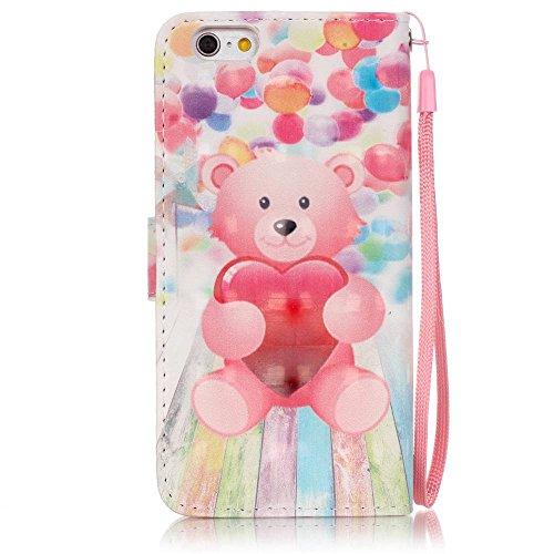 Owbb plume colorée Housse en PU cuir de protection pour iPhone 6 / 6S (4.7 pouces) étui coque de téléphone Color 10