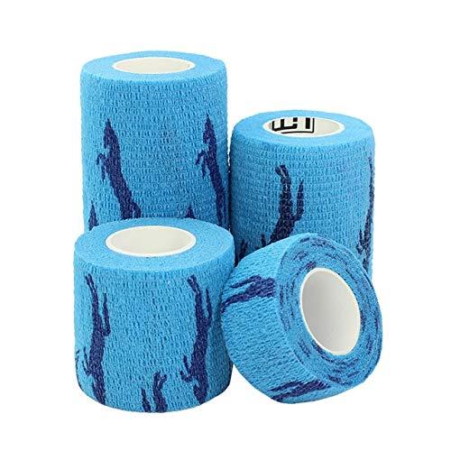 5 cm Pet Elastic Bandage Vlies Kohäsive Selbstklebende Bandage Band Finger Gelenke 5 cm x 4,5 mt 1 blaues Pferd ()