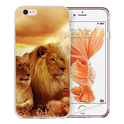 blitzversand Handyhülle REAL WILDTIERE Animal kompatibel für Samsung Galaxy S10 Löwe mal Zwei Duo Schutz Hülle Case Bumper transparent M13