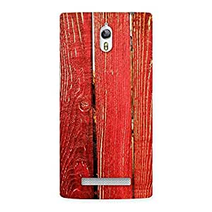 Red Bar Wood Print Back Case Cover for Oppo Find 7