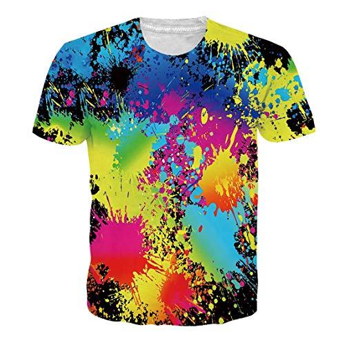 RAISEVERN Unisex 3D gedrucktes T-Shirt Personalisierte Sommer Casual Short Sleeve XXL - Personalisierte Geburtstags-shirt