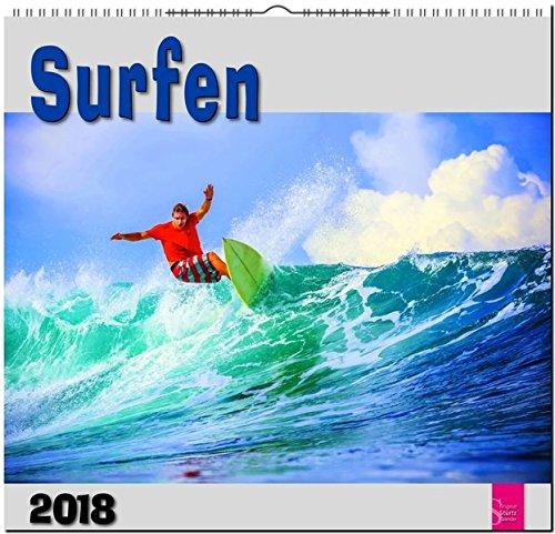 Preisvergleich Produktbild SURFEN: Original Stürtz-Kalender 2018 - Mittelformat-Kalender 33 x 31 cm
