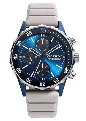 e9e6eddd9cae Viceroy Reloj Cronógrafo para Hombre de Cuarzo con Correa en Silicona  471159-37