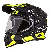 O'Neal Sierra II Comb Motocross Motorrad Helm MX Enduro Trail Quad Cross Offroad Gelände, 0817, Farbe Schwarz Neon Gelb, Größe M