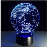 Ozeanien Karte Erde Globus 3D Lampe Led 7 Bunte Touch Sensitive Acryl Panel Visuelle Lichter Tisch Geschenk Hübsch