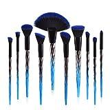 Make-up Pinsel, 10 Teile/satz Blau Gradient Erröten Make-Up Pinsel Foundation Blending Puder Lidschatten Contour Concealer Schönheit Bunte Pinsel Cheek Cosmetic Tool Kit