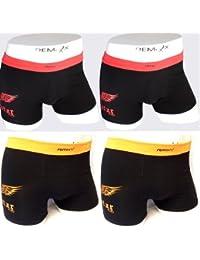 Lavazio lot de 4 boxers rétro pour homme en coton - 5 %  élasthanne