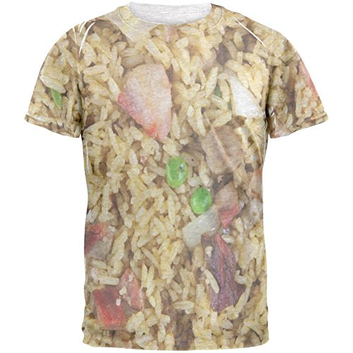 Schweinefleisch Fried Rice Kostüm Herren-T-Shirt Heather weiss (Kinder Rice Kostüm)