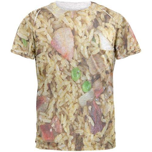 Schweinefleisch Fried Rice Kostüm Herren-T-Shirt Heather weiss (Rice Kostüm Kinder)