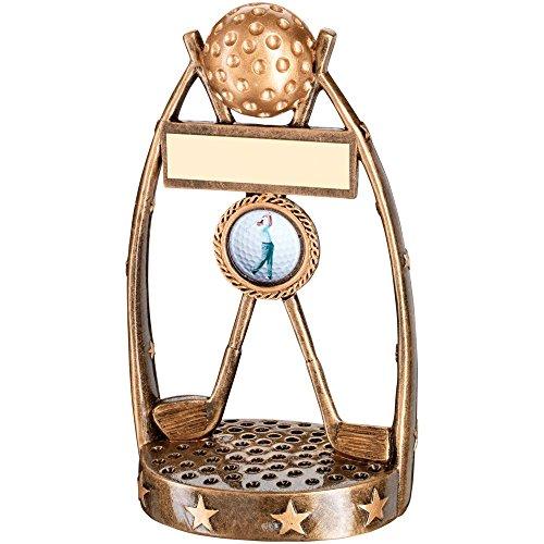 JR2-RF342A Brz/Gold Golfclubs Ball Trophy - (1In Zentrum) 6in beinhaltet Kostenlose Gravur (bis 30 Zeichen) -