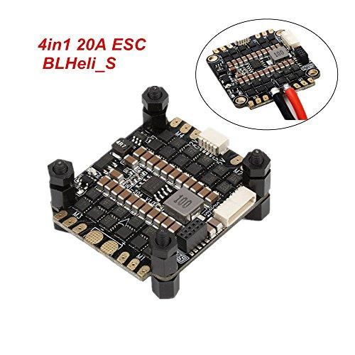 DYS ESC 20A 4 in 1 BLHeli_S BLHeli s Electronic Speed Controller Dshot 2-4S Lipo BB2 5V / 12V 6A BEC für FPV Racing Drone QAV250 220 230 210 200 180 Quadcopter esc