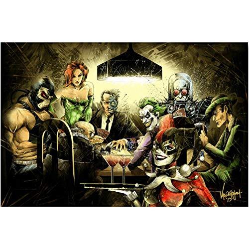 Vensf Diamant Malerei 5D DIY Bohren Voll Joker Harley Quinn Mosaik Strass Stickerei Kreuzstich Wohnkultur,80X100cm