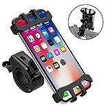 """TOTOBAY Support Téléphone Vélo Moto Guidon avec Rotation 360 Anti-Vibrations Bicyclette Silicone Réglable pour iPhone XS Max/XR/XS/X/8, Samsung et 4.0""""-6.5"""" Pouces Smartphones et Autres Appareils (1)"""