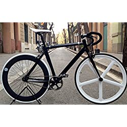 Bicicleta fixie-navi 5 Pista White.Monomarcha fixie / single speed.