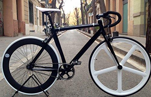 Vélo fixie-navi 5piste White. monomarcha Fixie/single speed.