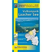Vulkanpark Laacher See (WR): Topographische Karte 1:50000 mit Wander- und Radwanderwegen