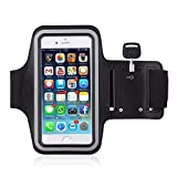 HUMBLE Sports Adjustable Workout Running Mobile Armband Pouch for 5.5 Inches Phones (Black)