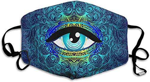 Staubdicht Waschbar Wiederverwendbare Heilige Geometrie Augen Mundschutz Atemschutzmaske Keimschutz Sicherheit Warme Winddichte Maske -
