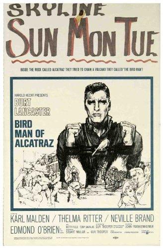 Birdman of Alcatraz poster del film finestra di 14-22x 36x 56cm, Burt Lancaster Karl Malden Thelma Ritter Neville marca Betty Campo