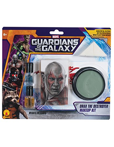 Drax The Of Guardians Galaxy Kostüm - DRAX Spielfigur mit, der Zerstörer Make Up Kit, Guardians Of The Galaxy Kostüm Zubehör