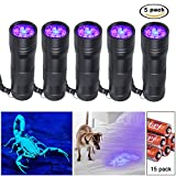 UV luce nera torcia – Gamba Home Casa Animali urina rivelatore con 12 LED, luce nera rivelatore per cane urina, Animale domestico macchie, letto Bug su tappeti/pavimenti