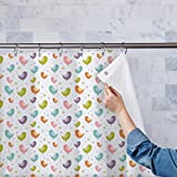 AZ Colorful Birds Washable Waterproof Shower Curtain 54 x 84inch; SINGLE PIECE