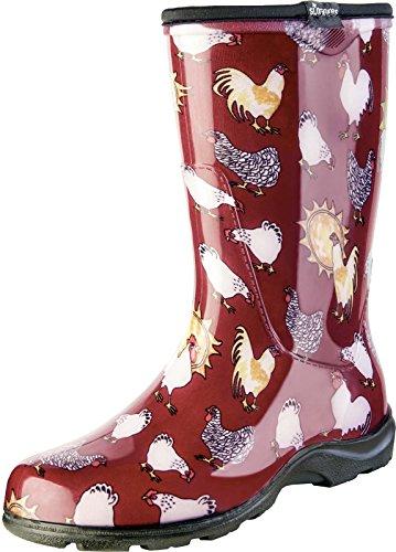 Sloggers - Zapatos de jardín impermeables para mujer con plantillas...