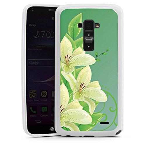 LG G Flex Silikon Hülle Case Schutzhülle Lilie Blume Flower (Flex-lilie)